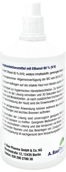 Händedesinfektionsmittel 100 ml Kittelflasche